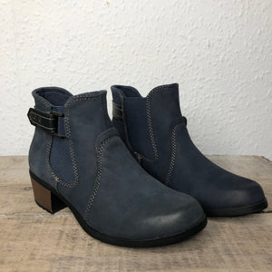 Earth Spirit El Reno Navy Womens Casual Comfort Ankle Boots