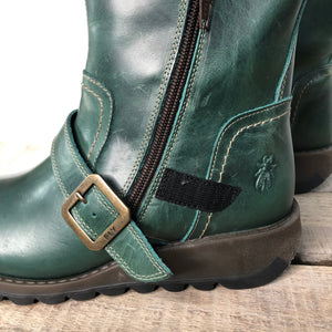 Fly London SEKU376FLY  Petrol Women's Leather Waterproof Ankle Boots