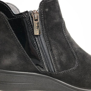 IGI&CO 6153711 Nero Black Womens Casual Comfort Leather GORE-TEX Ankle Boots