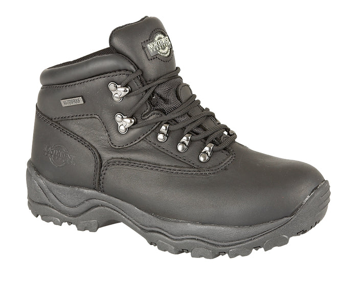 Northwest Territory Inuvik Black Mens Walking Hiking Boots