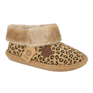 Jo & Joe Butterscotch Brown Womens Comfort Bootie Slippers