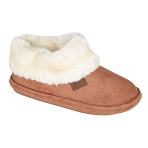 Jo & Joe Chiltern Cognac Womens Comfort Bootie Slipper