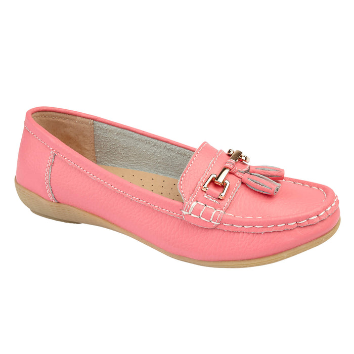 Jo & Joe Nautical Strawberry Women's Slip On Leather Loafers Moccasin Casual Sho