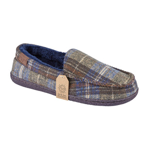 Jo & Joe Pimlico Grey Mens Comfort Mocassin Slippers