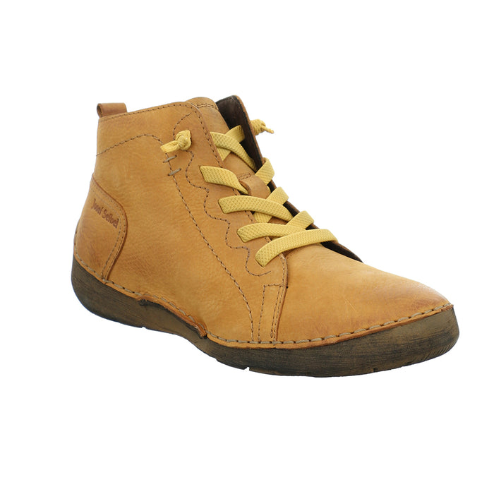 Josef Seibel Fergey 86 Yellow Womens Casual Comfort Leather Ankle Boots
