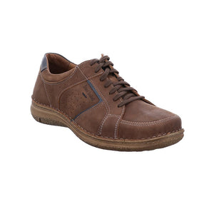 Josef Seibel Anvers 59 Brown Brasil Mens Real Nubuck Leather Lace Up Shoes