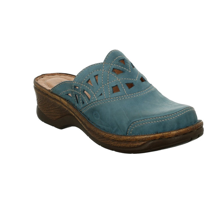 Josef Seibel Catalonia 41 Azur Womens Casual Comfort Leather Mule Sandals