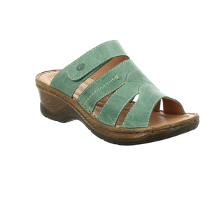 Josef Seibel Catalonia 49 Tanne Womens Casual Comfort Leather Mule Sandals