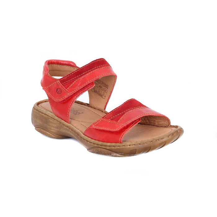Josef Seibel Debra 19 Rot-kombi Womens Casual Comfort Leather Sandals