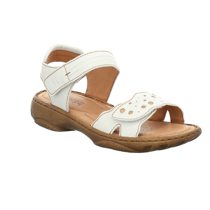 Josef Seibel Debra 55 Weiss Womens Casual Comfort Leather Sandals
