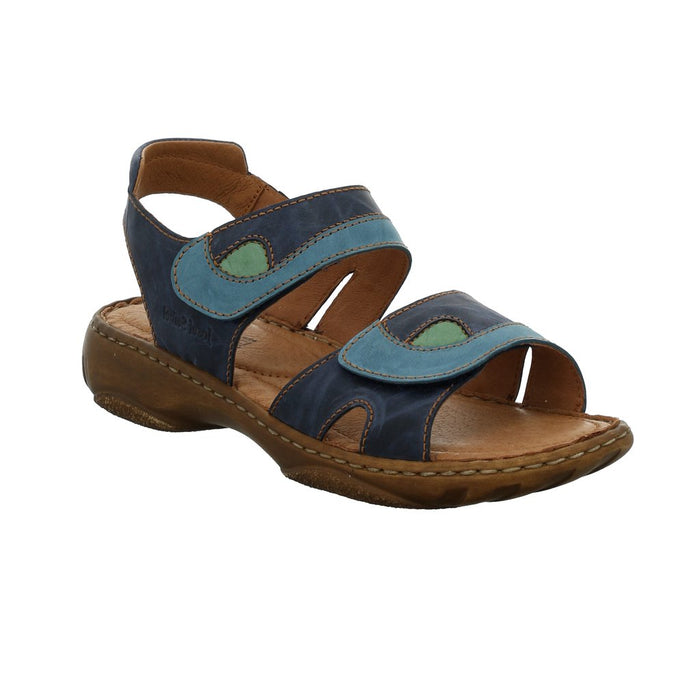 Josef Seibel Debra Blau-kombi Womens Casual Comfort Leather Sandals