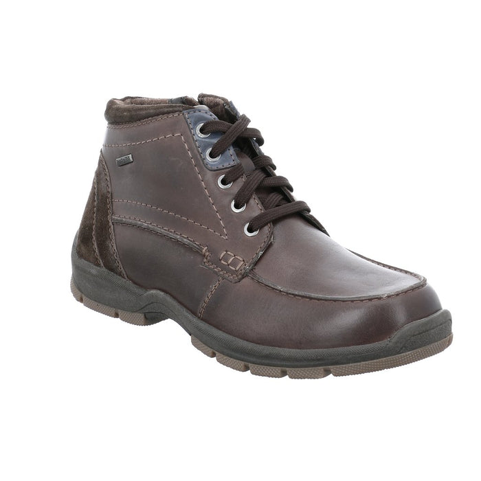 Josef Seibel Lenny 50 Brown Mens Casual Waterproof Walking Lace Up Boots