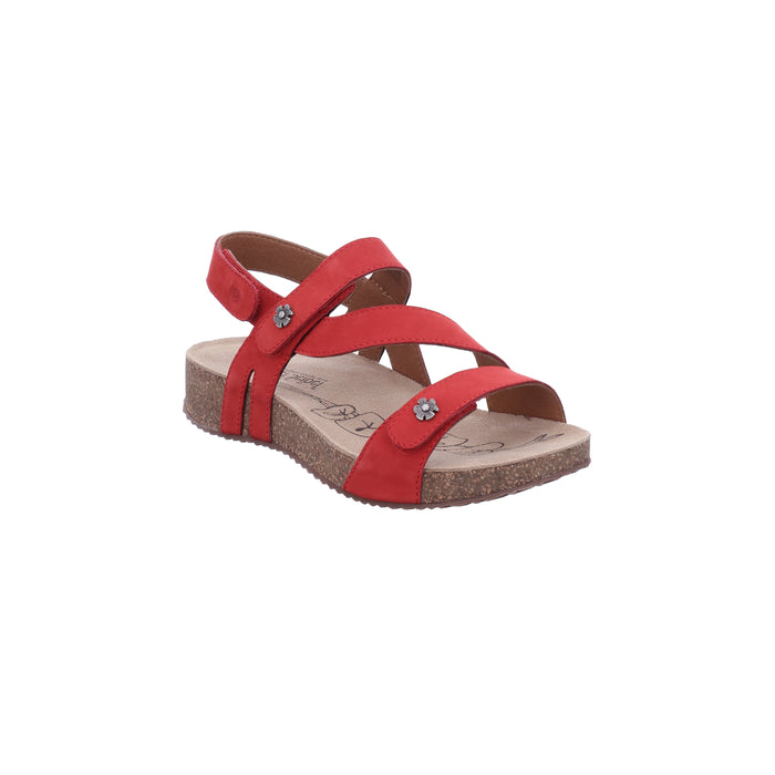 Josef Seibel Tonga 53 Rot Womens Casual Comfort Leather Sandals