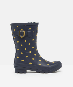 Joules Molly Welly Navy Ladybird Womens Casual Comfort Mid Height Wellingtons