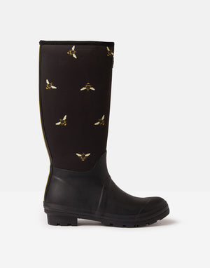 Joules Welly Print Bees Neoprene Womens Casual Comfort Full length Wellies