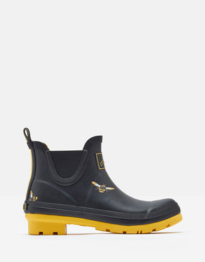 Joules Wellibob Black Bees Womens Casual Comfort Short Wellies