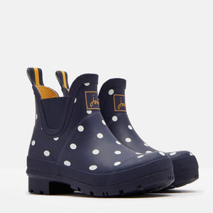 Joules Wellibob Navy Spot Womens Casual Stylish Short Wellies