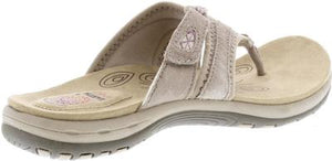 Earth Spirit Juliet New Khaki Womens Casual Comfort Leather Toe Post Sandals