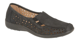 Boulevard L130A Black Womens Casual Comfort Shoes