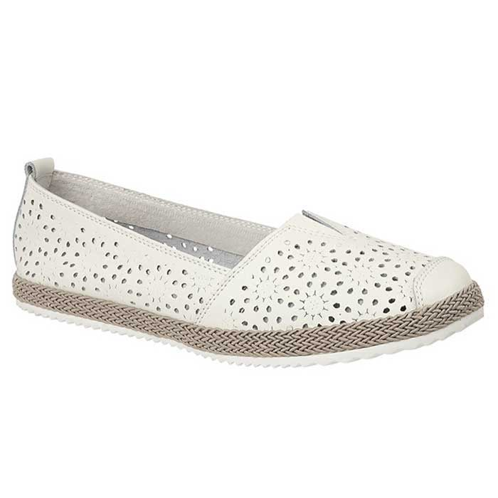 Boulevard L262G White Womens Casual Shoes