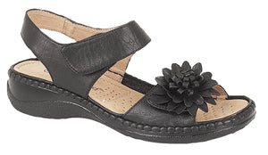 Boulevard L373A Black Womens Casual Sandals