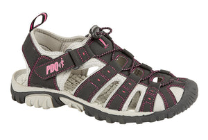 PDQ L377A Black/Pink Womens Casual Walking Trail Sandals