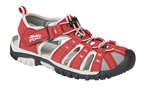 PDQ L377D Red/Grey Womens Casual Walking Trail Sandals
