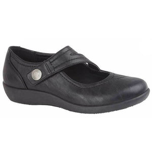 Boulevard L435A Black Womens Casual Comfort EE Fit Shoes