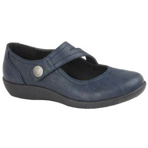 Boulevard L435NC Navy Womens Casual Comfort EE Fit Shoes