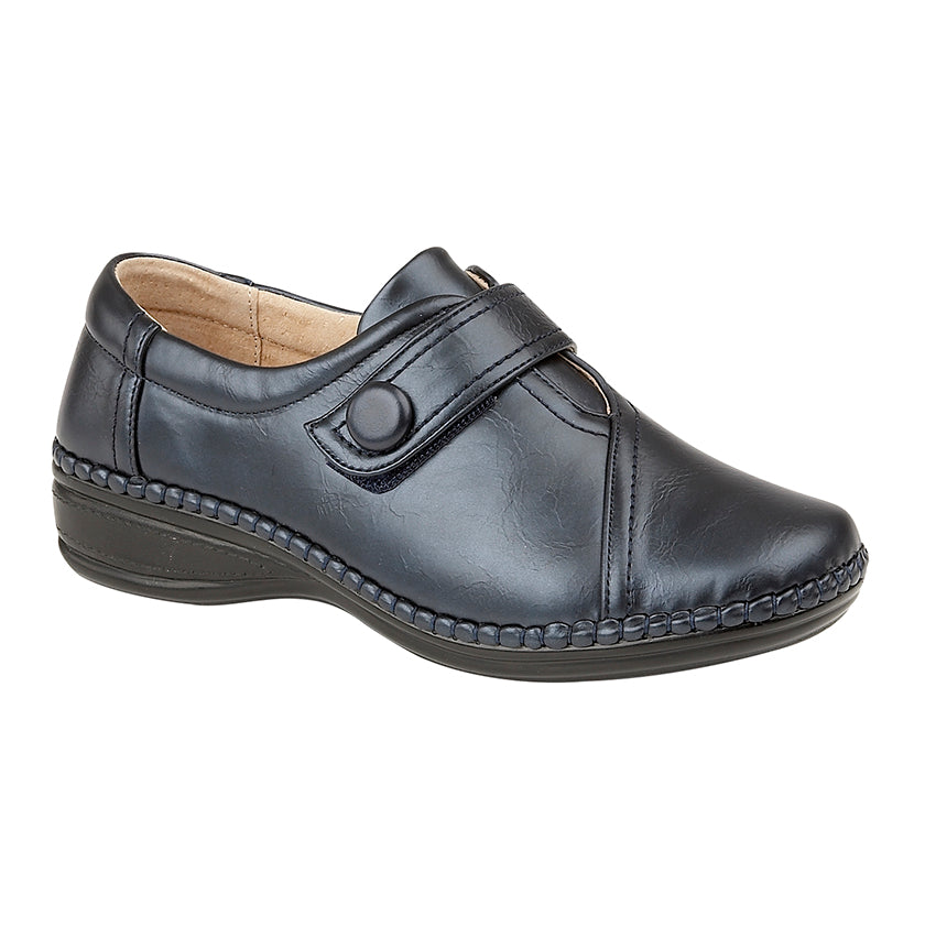 Boulevard L436C Navy Womens Extra Wide