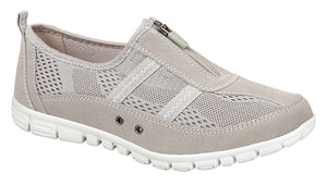 Boulevard L535F Grey Womens Wide Fit Casual Shoes
