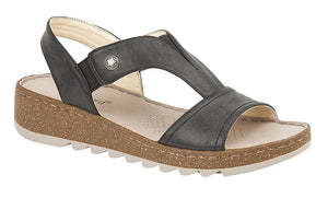 Boulevard L584A Black Womens Casual Sandals Shoe Centre Dawlish