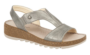 Boulevard L584FS Pewter Womens Casual Sandals Shoe Centre Dawlish