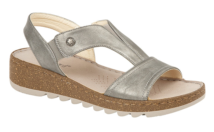 Boulevard L584FS Pewter Womens Casual Sandals