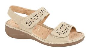 Boulevard L589E Stone Womens Casual Sandals Shoe Centre Dawlish