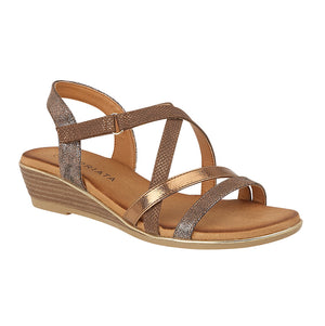 Cipriata L637BR Bronze Metallic Womens Casual Sandals