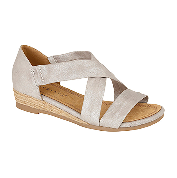 Cipriata L668FS Silver Womens Casual Open Toe Crossover Sandals