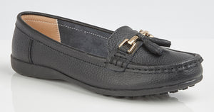 Boulevard L748A Black Womens Casual Comfort Loafers