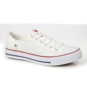 DEK L810G White Womens Casual Comfort Canvas Shoes