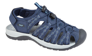 PDQ L9529C Navy Synthetic Suede Womens Casual Sandals
