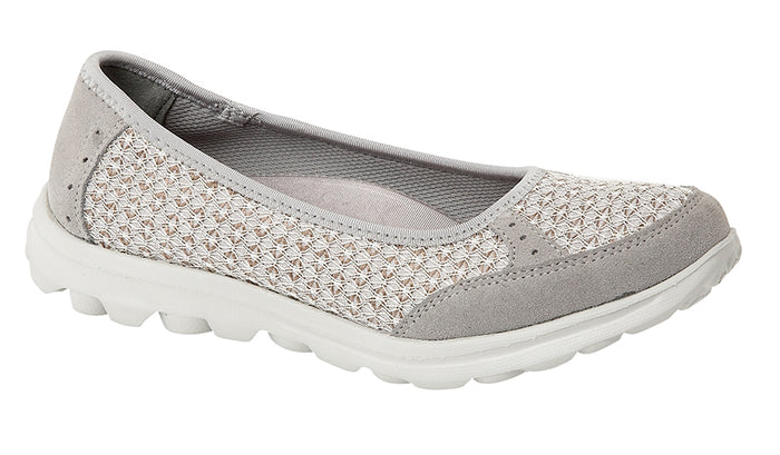 Boulevard L9548F Grey Womens Casual Comfort Slip On Shoes
