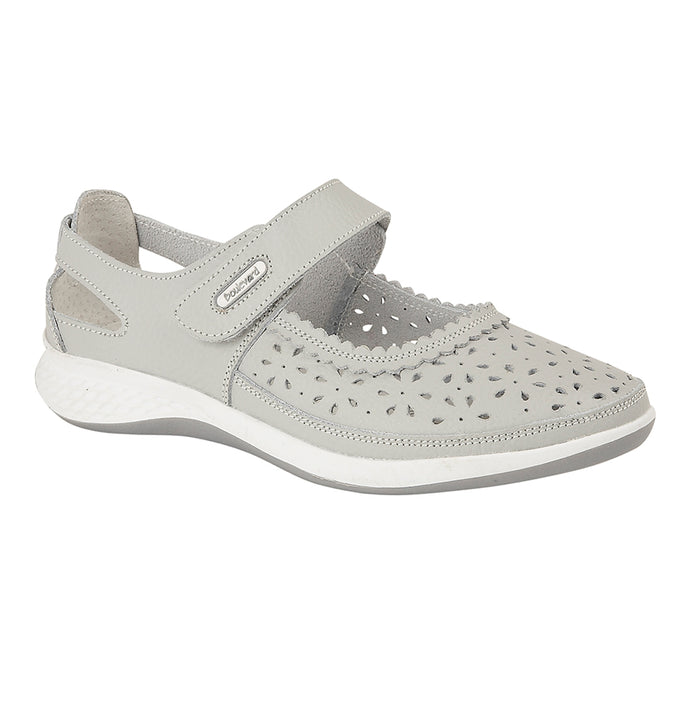 Boulevard L9552LF Light Grey Womens Casual Comfort Shoes