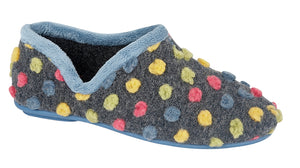 Sleepers LS311LC Light Blue/Multi Womens Casual Comfort Slippers