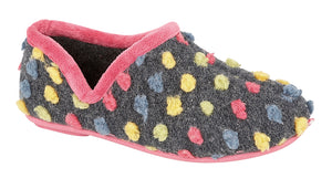 Sleepers LS311M Jade Fuschia Multi Womens Comfort Slippers