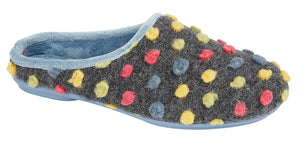 Sleepers LS312C Blue Multi Womens Casual Comfort Shortback Slipper Mules