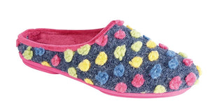 Sleepers LS312M Fuchsia Multi Womens Casual Comfort Shortback Slipper Mules