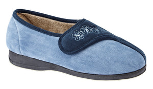 Sleepers LS352C Gemma Navy/Blue Womens Comfort Slippers
