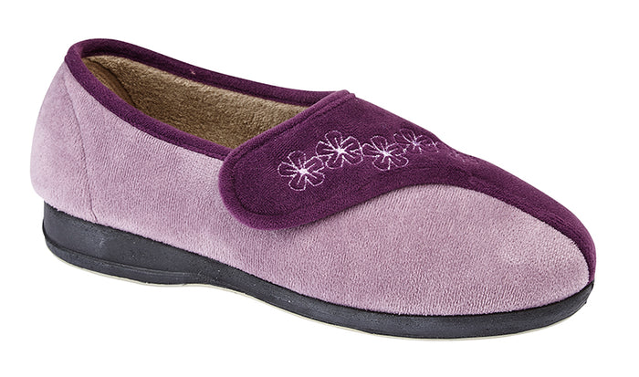 Sleepers LS352P Gemma Purple/Lilac Womens Comfort Slippers
