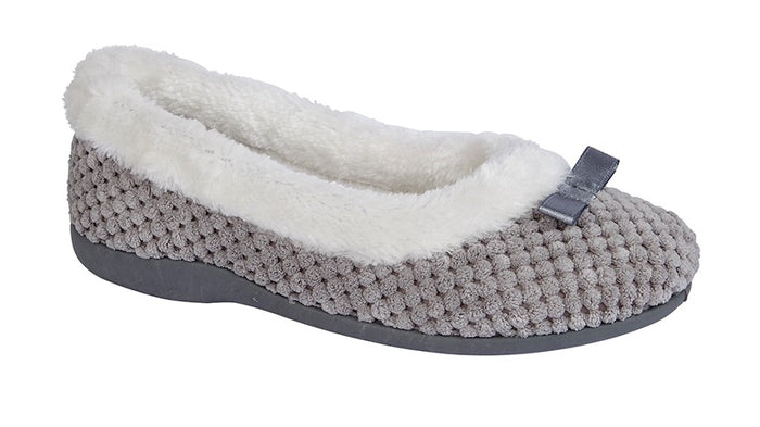 Sleepers LS359F Karina Grey Womens Comfort Slippers