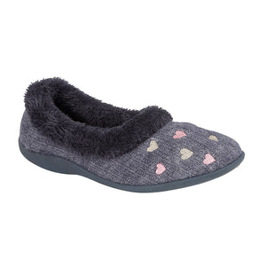 Sleepers LS377NC Navy Womens Casual Comfort Slippers
